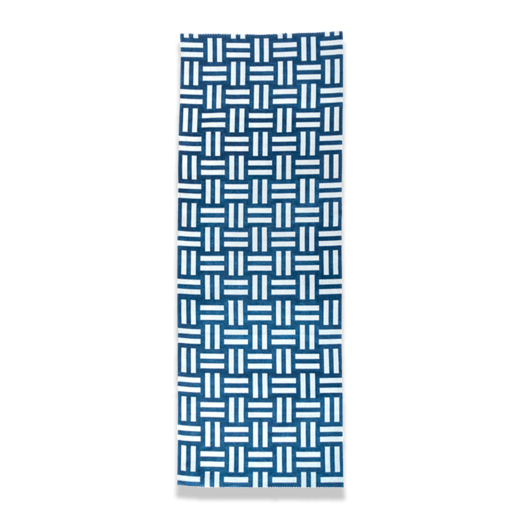 Indigo Dyed Basket Weave Pattern Tenugui Towel by Ricketts.