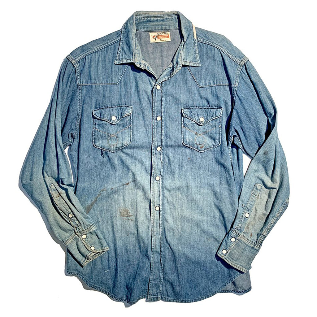 1960s JC Penneys denim western shirt.