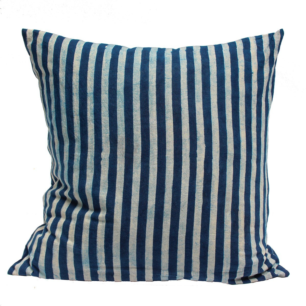 Striped indigo dyed pillow