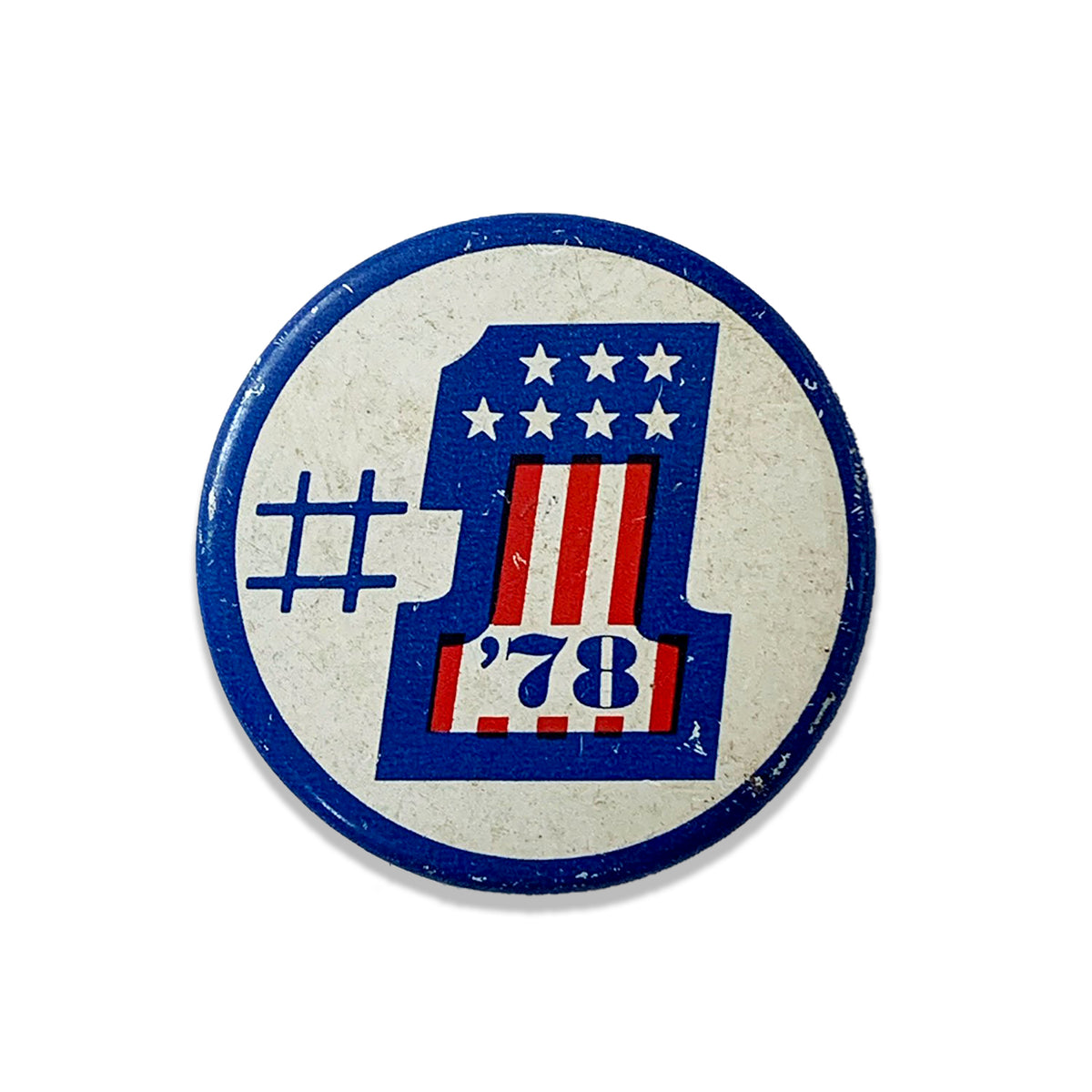 "Vintage ""#1 '78"" Pin Button"