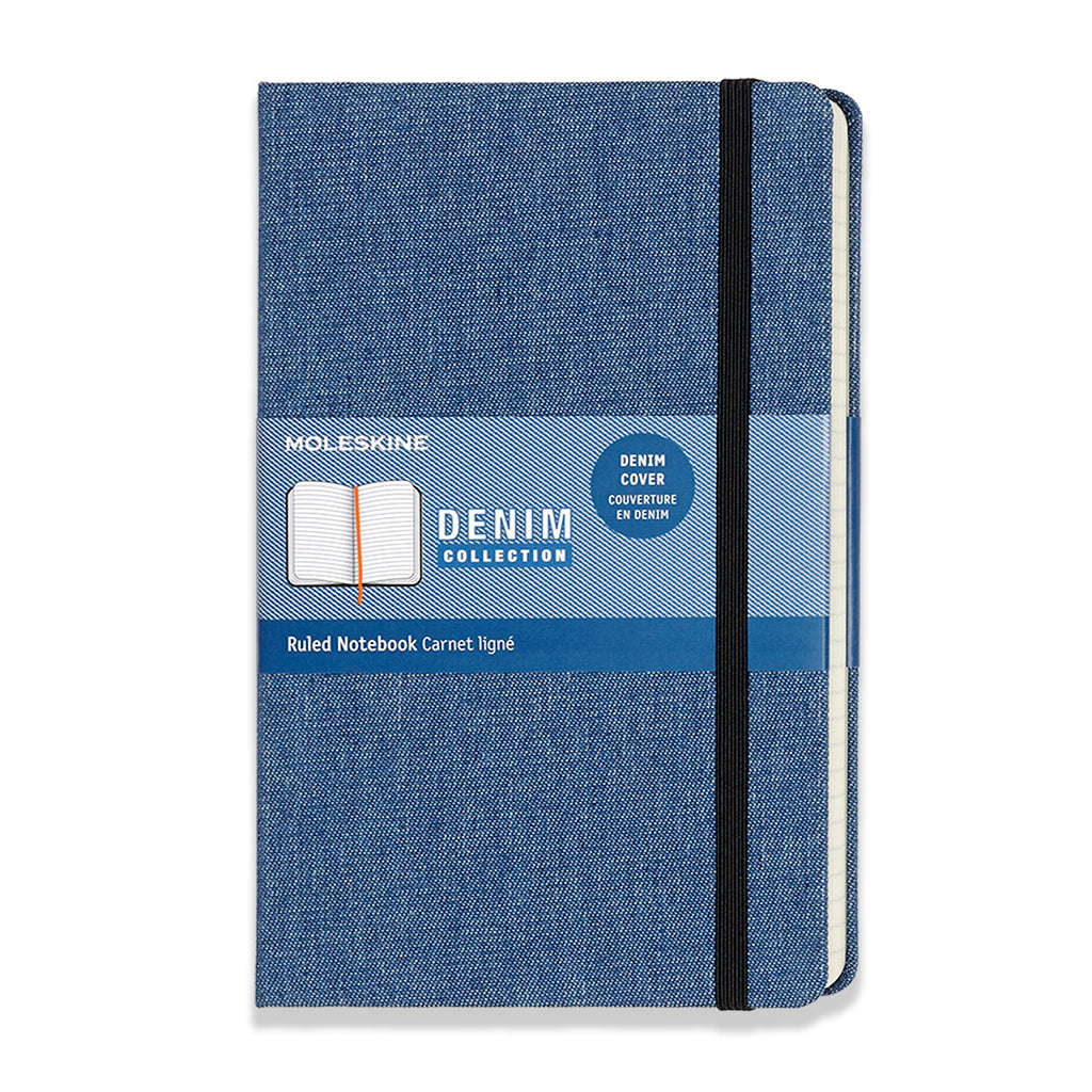 Denim covered moleskin notebook