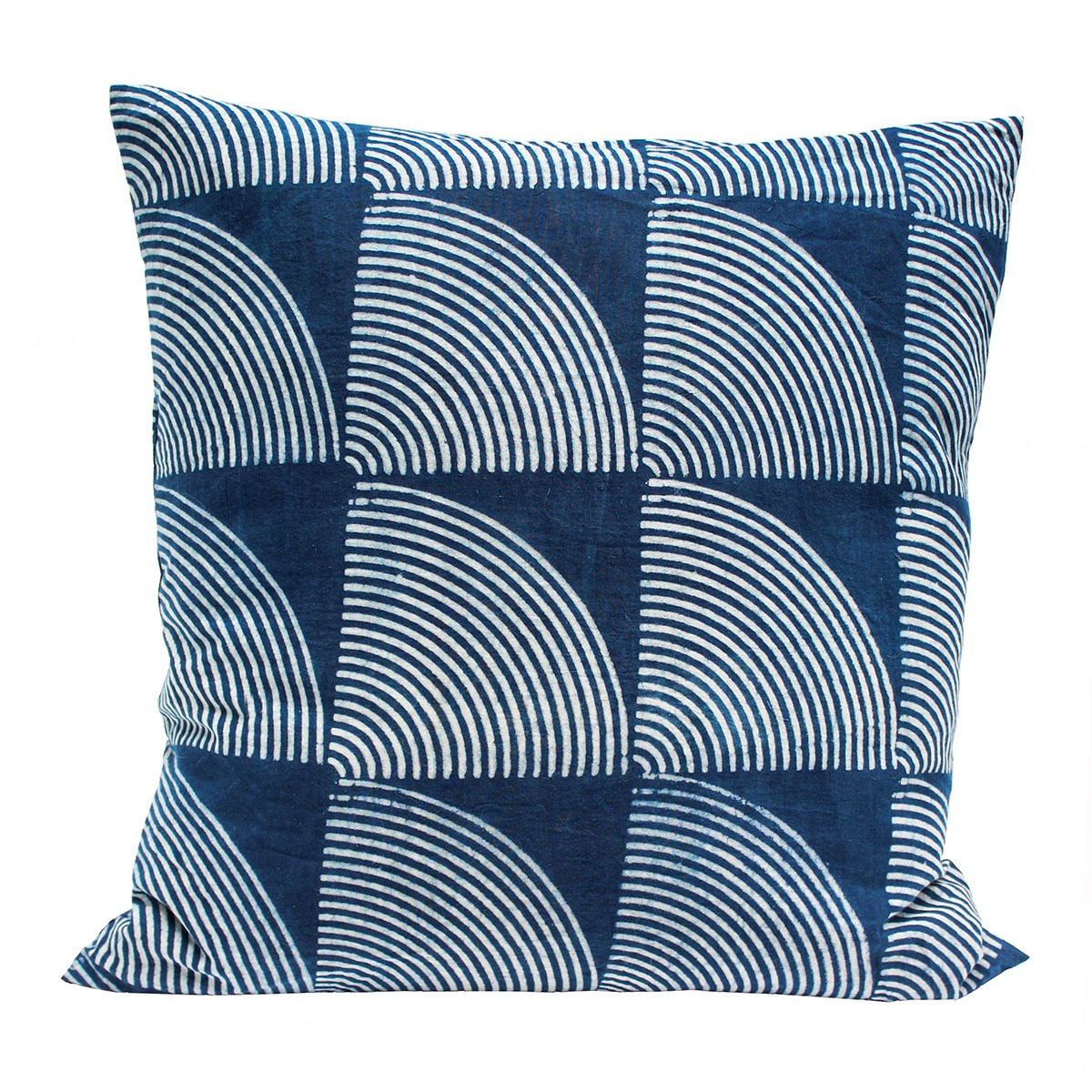 Indigo and blue dyed pillow