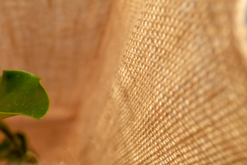 Detail of the beautiful Eco Gard jute fabric