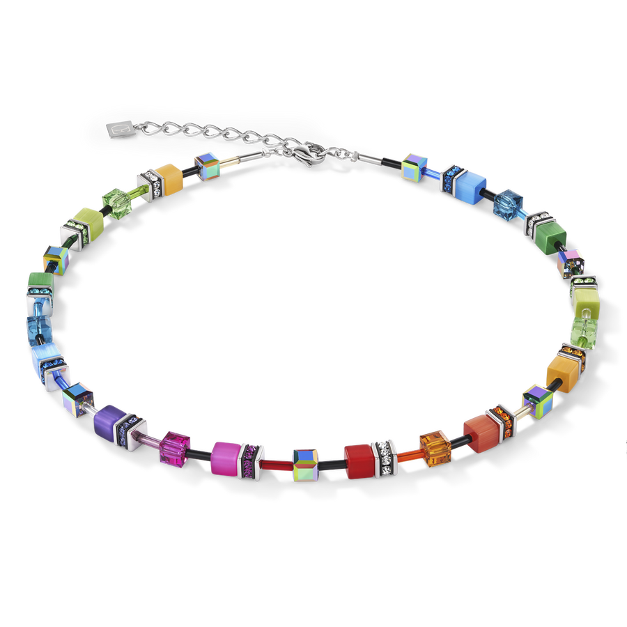 GeoCUBE® necklace multicolour rainbow