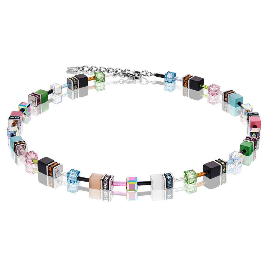 Collier GeoCUBE® multicolor spring pastello