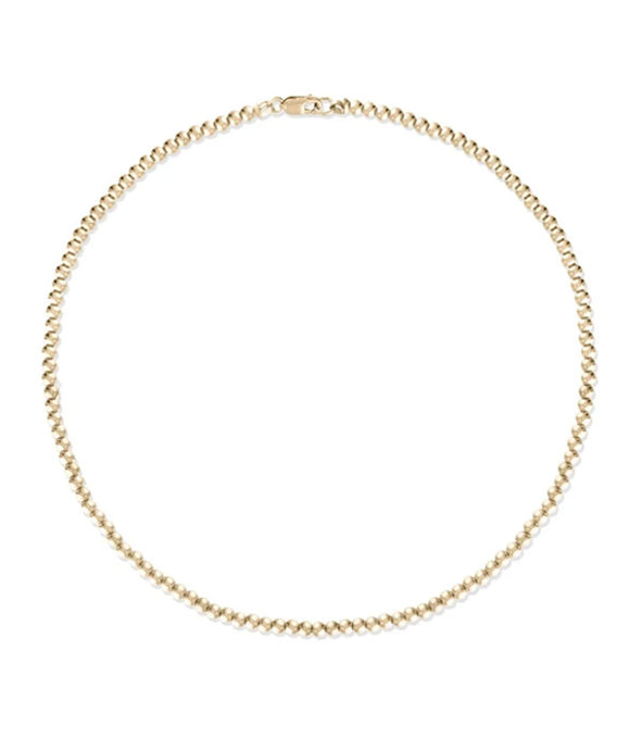 2mm Gold Ball Anklet