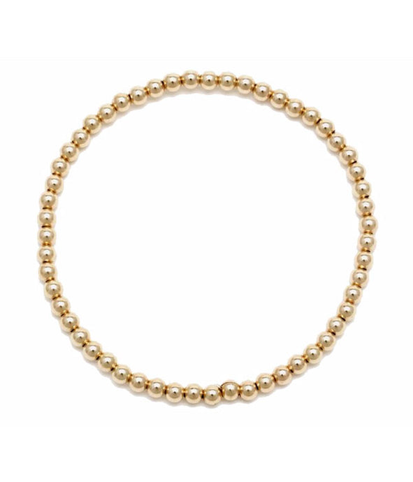 3MM Gold Ball Bracelet