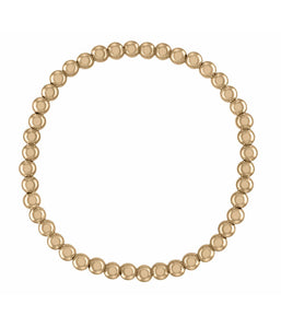 4MM Gold Ball Bracelet