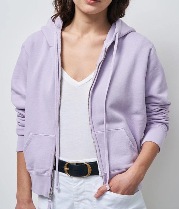 Callie Zip Up Hoodie In Lavender
