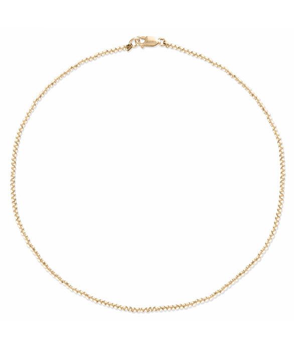 2MM Gold Ball Necklace