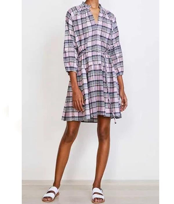 Laguna Mini Dress - Pink Madras