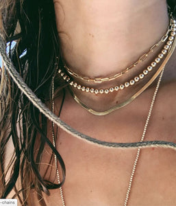 Gold Snake Layering Chain