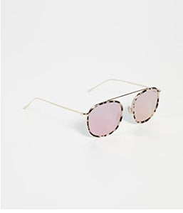 Mykonos Ave - White Tortoise/ Gold w/ Bright Rose Lenses