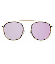 Load image into Gallery viewer, Mykonos Ave - White Tortoise/ Gold w/ Bright Rose Lenses