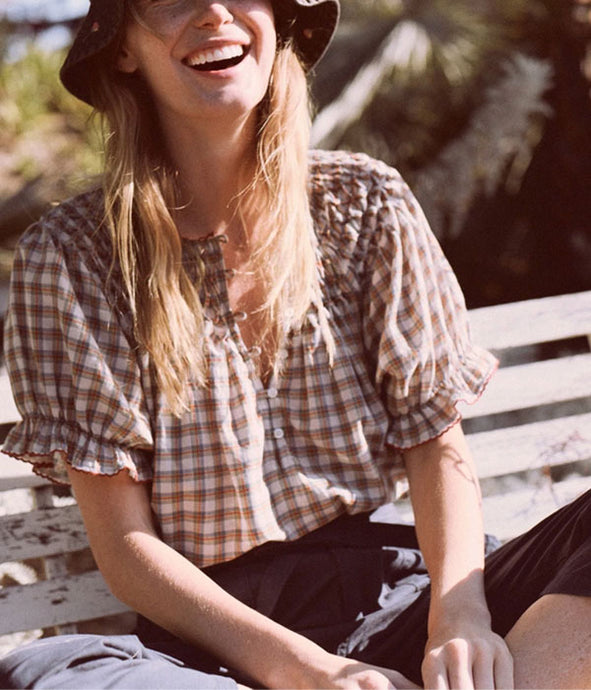The Hazel Top - Meadow Plaid