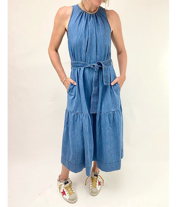 Romelia Dress - Light Indigo Denim