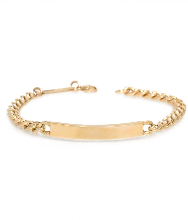 14k Gold Medium Hollow Curb Chain ID Bracelet-COMING SOON!