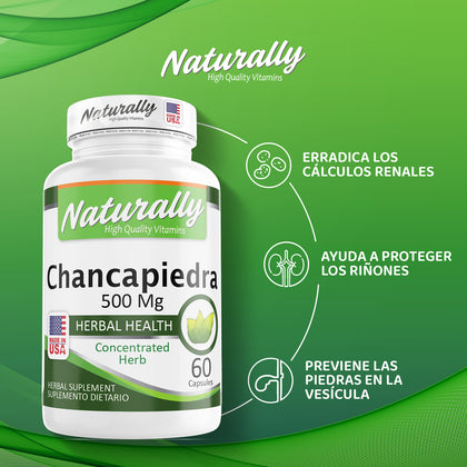 CHANCAPIERDA | 500 MG | 60 CAPSULAS | AMERICANA | NATURALLY