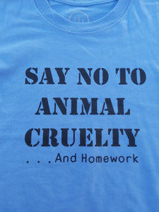 Say No to Animal Cruelty || Kids T-shirt