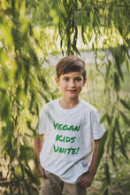 Load image into Gallery viewer, Vegan Kids Unite Community Shirt