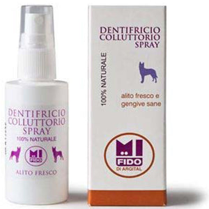 Dentifricio collutorio spray MiFido ARGITAL – alito fresco e gengive sane - per animali