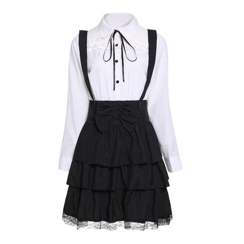 Vintage Elegant Party Gothic Lolita Princess Female Goth Dress