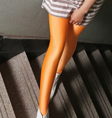 lady push up slim leggings fashion new style hot shine legging