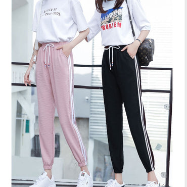 Fashion Casual Sweatpants Pants Side-Stripe Loose Pants