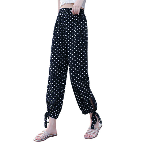 Casual Point Stretchy Wide Leg Palazzo Lounge Pants