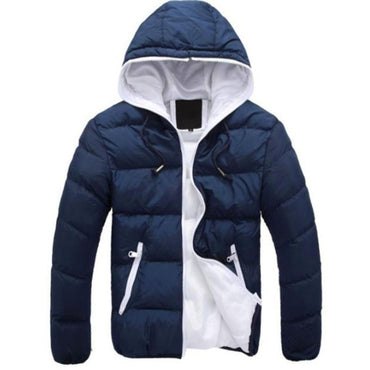 Cotton Warm Outwear Parka Winter Jacket Hooded Collar Coat