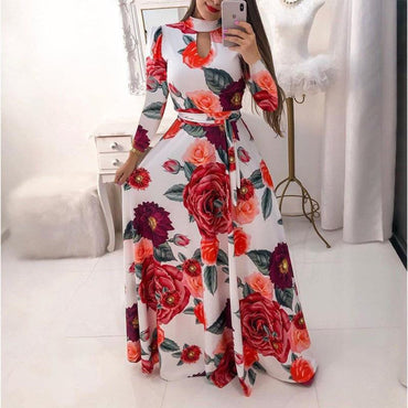 Oversize Casual Print Robe Femme Party Vestidos Maxi Dress