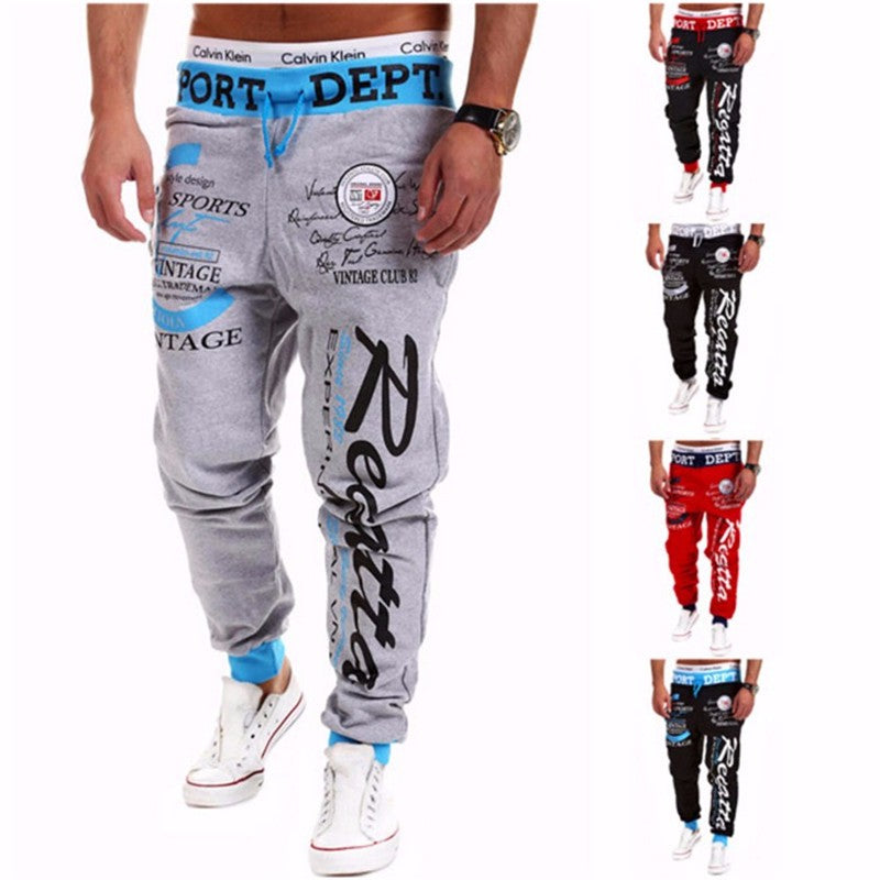 Letter Printing Baggy Harem Cool Long Pants Joggers