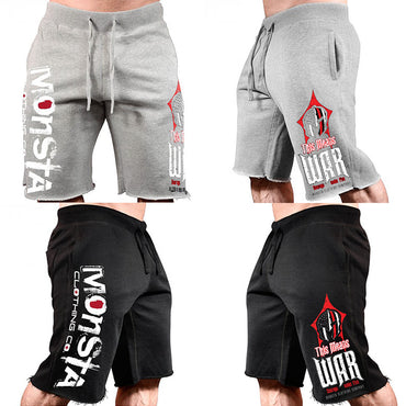 casual shorts men brand clothing letter printed shorts
