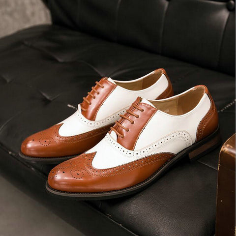 Brogue Wedding Lace Up Leather Formal Party Oxford Shoes