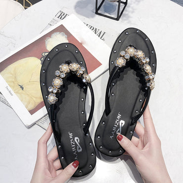 Ladies Slipper Flat with Shoes Retro Sandals Flat Bohemia Style