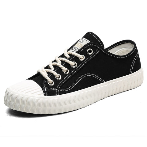 Canvas Casual Shoes Male Sneakers Lace up Student Shoes