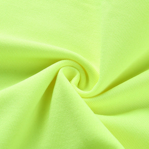 Hot casual neon green crop top camis streetwear