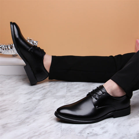New Brand Classic Pointed Toe Dress Patent Leather Black Wedding Oxford Shoes