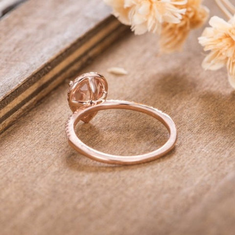 Luxury Wedding Anniversary Ring with Pear Shape Huge