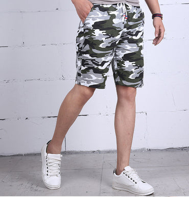 Military Cotton Streetwear Elastic Waist Causal Beach Short