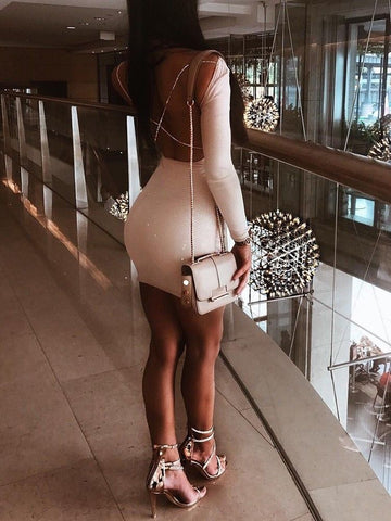 Sexy Backless Party Cocktail Slim Short Mini Bodycon Dresses
