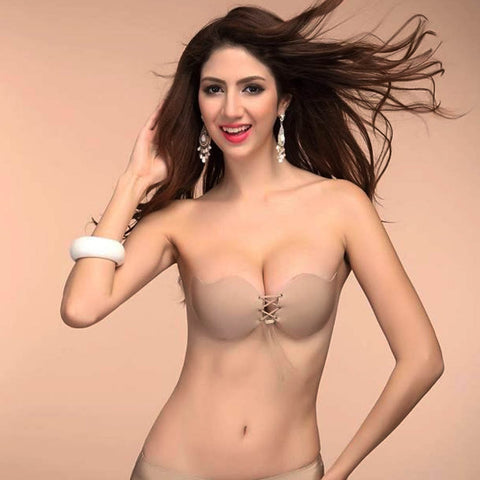 Sexy Strapless Instant Breast Lift Invisible Silicone Push Up Bra bikini
