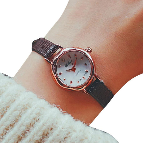 Quartz Analog Clocks Small Dial Delicate Luxury Business Wrist Watches