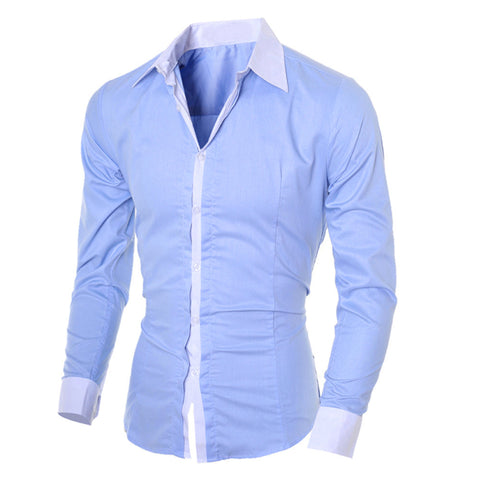 Social Fashion Personality Casual Slim Long-sleeved Top Blouse Dress Shirts