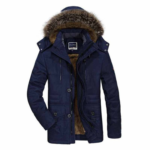 Thicken Warm Parkas Hooded Fleece Outwear Cotton Coat