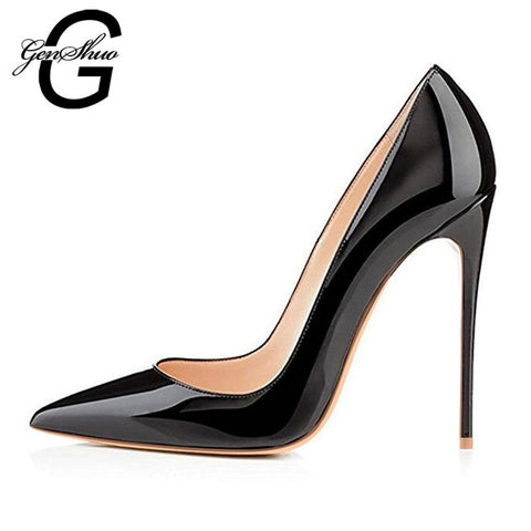 Black Pumps Silver High Heels Wedding Shoes Nude Pumps Bridal Shoes