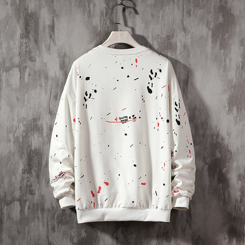 hand-Painted  Sweatshirts art painted  sweatshirt Loose Tops