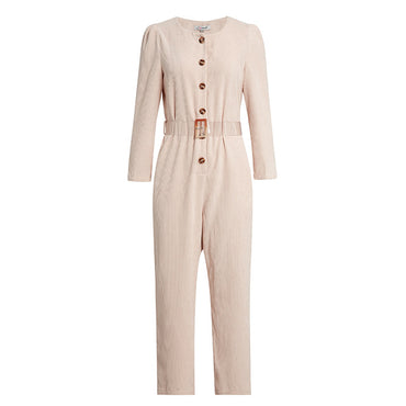 Corduroy Light Pink Jumpsuits Romper High Fashion