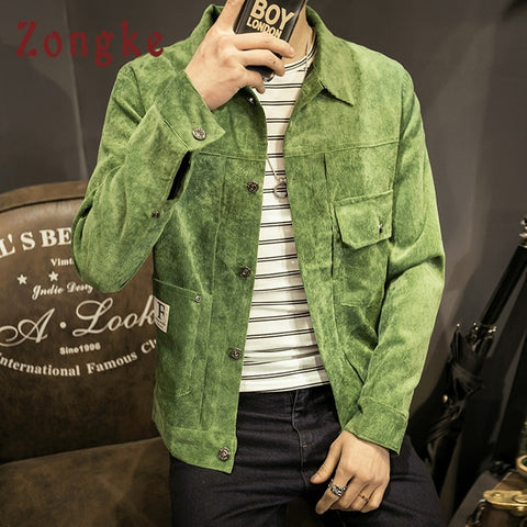 Corduroy Hip Hop Streetwear Coat Windbreaker Clothes Bomber Jacket