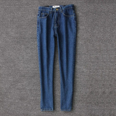pencil denim pants high waist casual vintage jeans